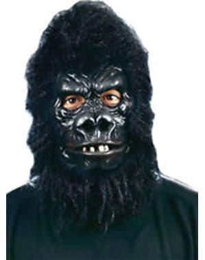 Aikuisten karvainen gorillanaamio