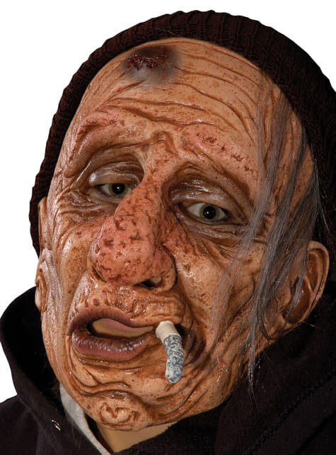 Máscara de velho fumador para adulto