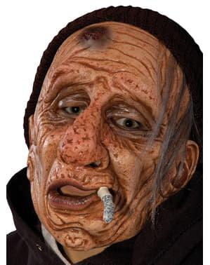 Máscara de viejo fumador para adulto