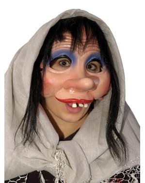Media máscara de niña tímida para adulto