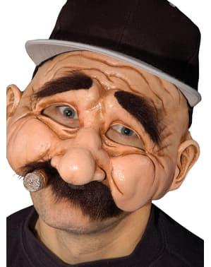 Media máscara de abuelo simpático