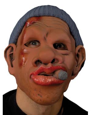 Máscara de maconheiro à procura de problemas para adulto