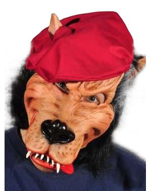 Máscara de lobo mau para adulto