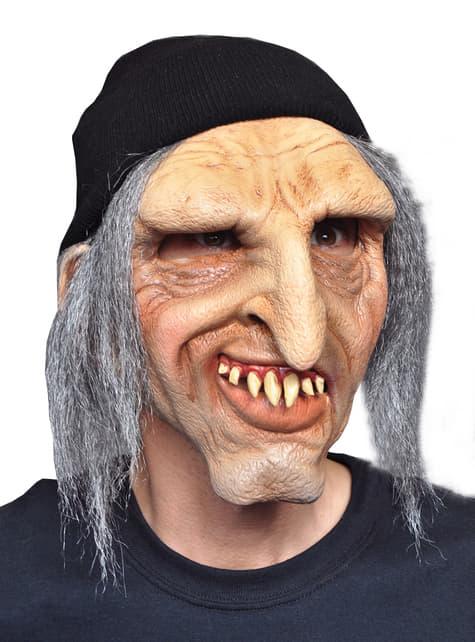 Máscara de viejo tacaño para adulto