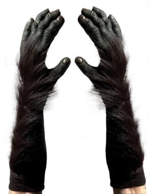 Rukavice pro dospělé gorilí ruce