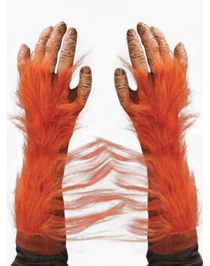 Mãos de orangotango para adulto