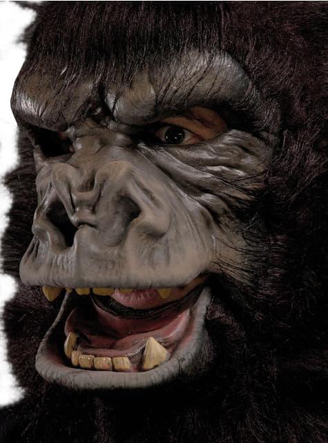 Máscara de gorila de espalda plateada para adulto