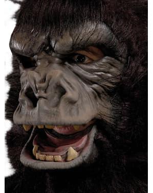 Masker gorilla zilverkleurige rug voor volwassenen