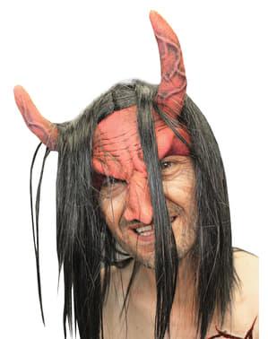 Maska pro dospělé ďábel červená