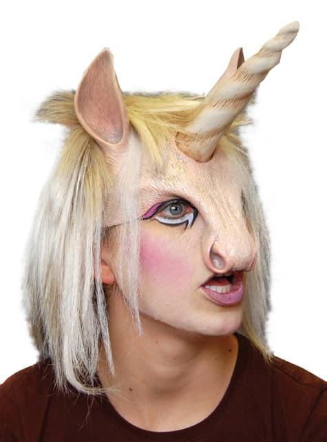 Meia máscara de unicórnio resplandecente para adulto
