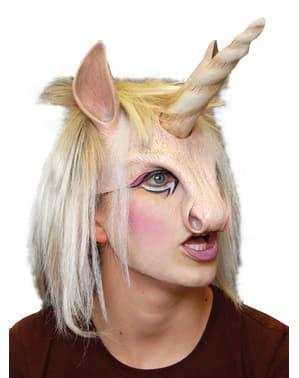 Mask Glänsande Enhörning för vuxen