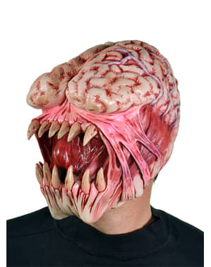 Máscara de alien come cerebros para adulto