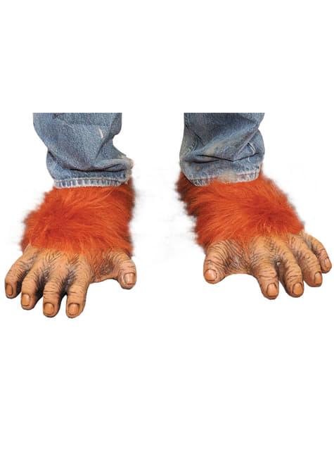 オランウータンの大人の足