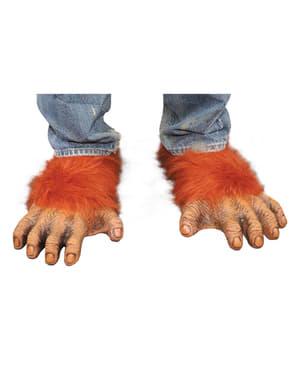 Pés de orangotango para adulto