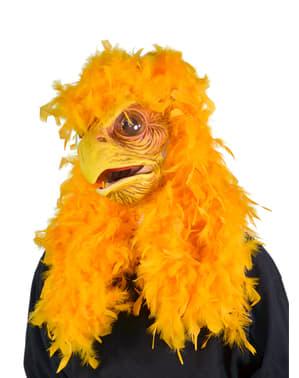 Masker mega kip voor volwassenen