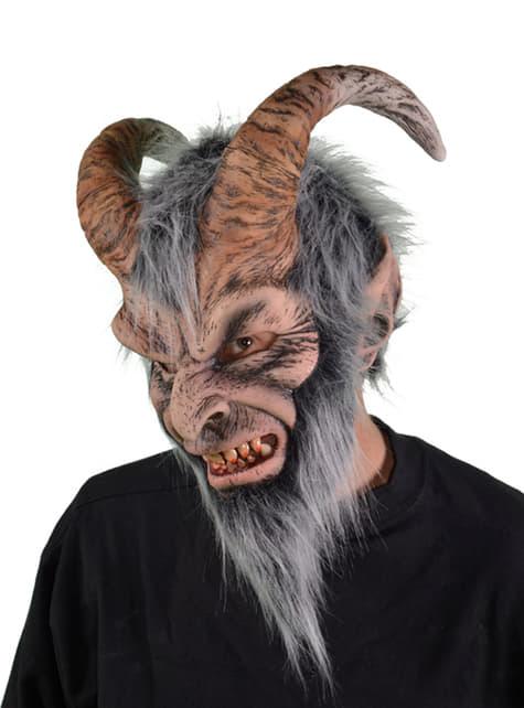 Máscara de Krampus para adulto