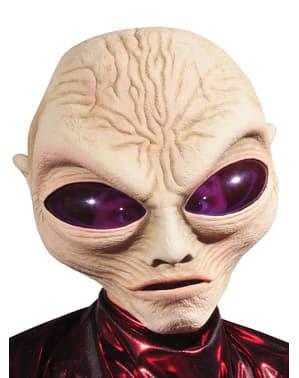 Máscara de marciano cabezón para adulto