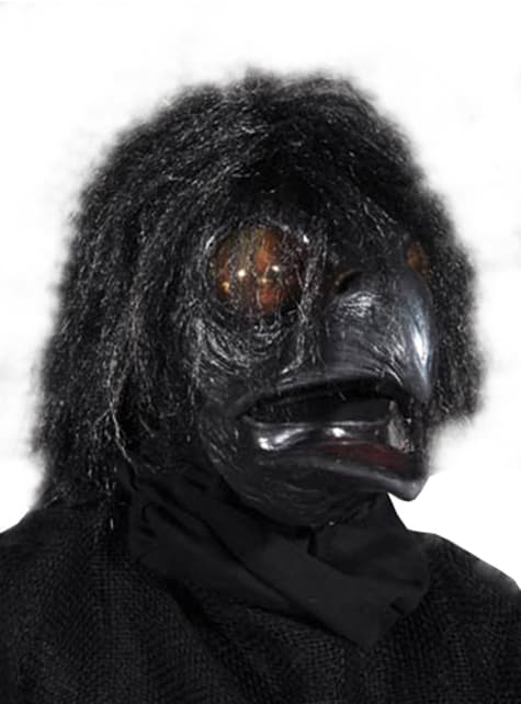 Adult's Black Crow Mask