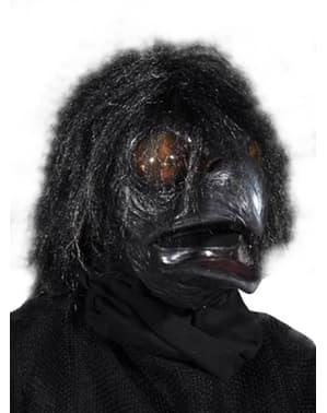 Máscara de corvo preto para adulto