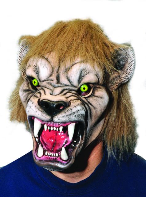 Máscara de león furioso para adulto