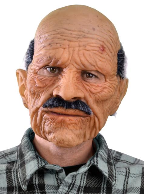 Máscara de viejo malhumorado para adulto