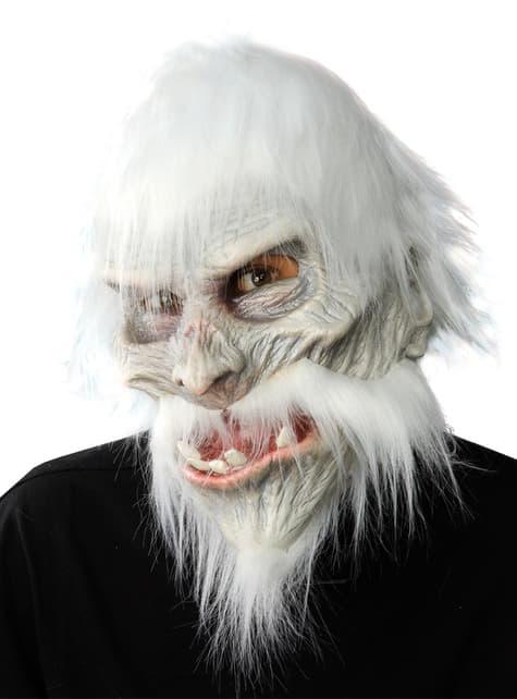 Máscara de abominable hombre de las nieves para adulto