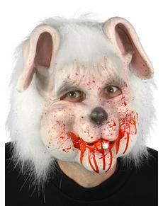 Máscara de adorável coelhinho sangrento para adulto