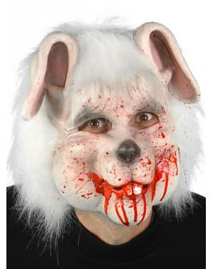 Maska miły zakrwawiony króliczek dla dorosłego