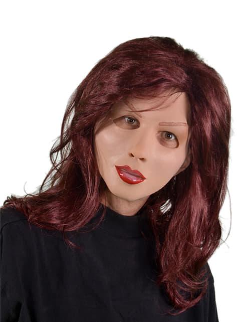 Máscara de muñeca pelirroja para mujer