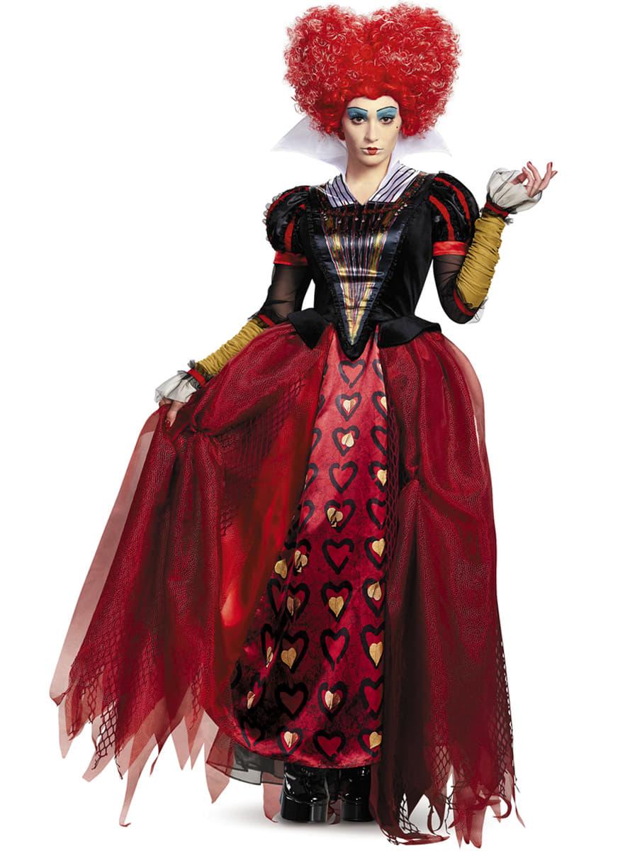 Costume da Regina di Cuori Alice attraverso lo specchio per donna