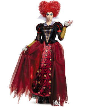 Alice i Eventyrland: Bag spejlet hjerterdronning kostume til kvinder