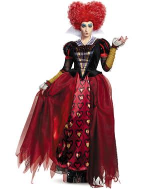 Déguisement Reine rouge Alice de l'autre côté du miroir prestige femme