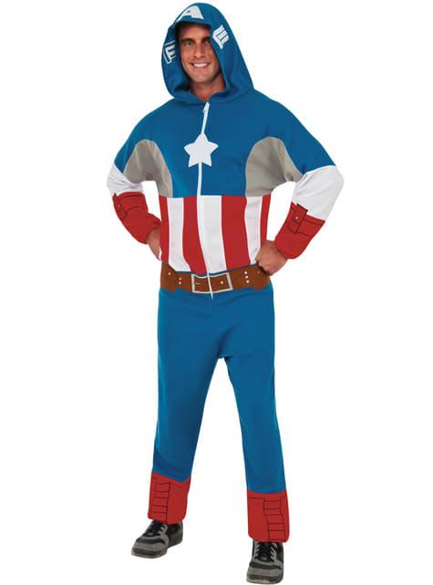 Disfraz de Capitán América classic mono para hombre