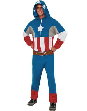 Fato de Capitão América classic macacão para homem