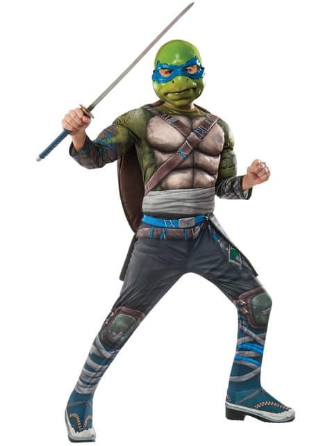 Disfraz de Leonardo Las Tortugas Ninja 2 deluxe para niño