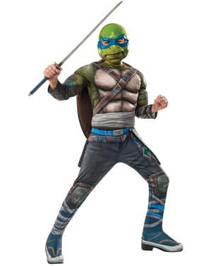 Fato de Leonardo As Tartarugas Ninja 2 deluxe para menino