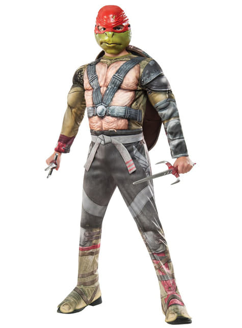 Fato de Raphael Tartarugas Ninja 2 deluxe para menino