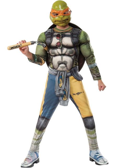 Fato de Michelangelo Tartarugas Ninja 2 deluxe para menino