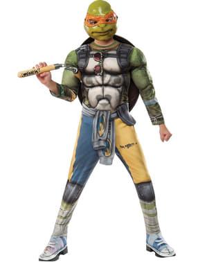 Costum Michelangelo Țestoasele Ninja 2 deluxe pentru băiat