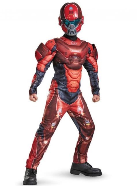 Kostium Red Spartan umięśniony dla chłopca
