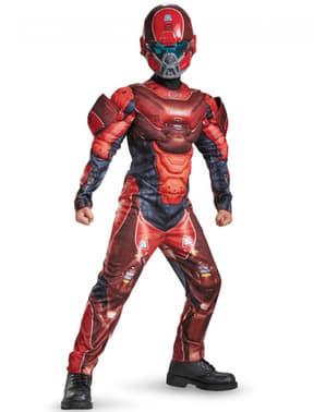 Fato de Red Spartan musculoso para menino