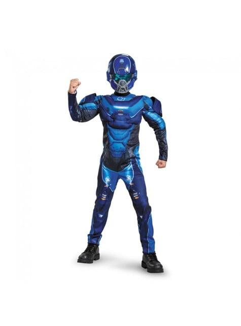 Disfraz de Blue Spartan musculoso para niño