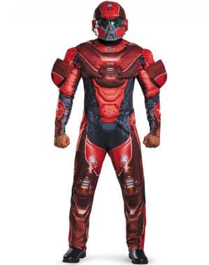 Klassisk Rød Spartan Kostyme Mann