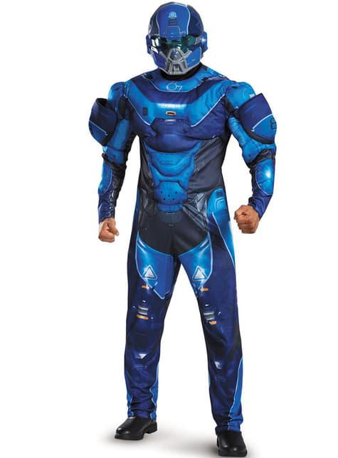 Disfraz de Blue Spartan classic para hombre