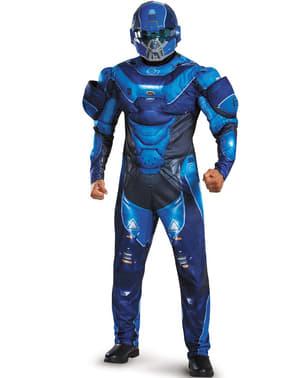 Halo הכחול Spartan תלבושות למבוגרים