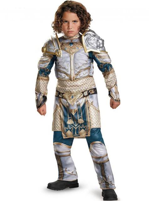 Disfraz de Rey Llane World of Warcraft musculoso para niño