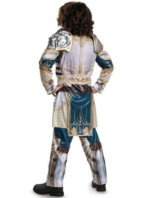 Disfraz de Rey Llane World of Warcraft musculoso para niño - infantil