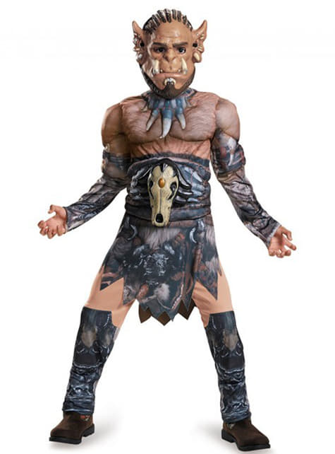 Disfraz de Durotan World of Warcraft musculoso para niño