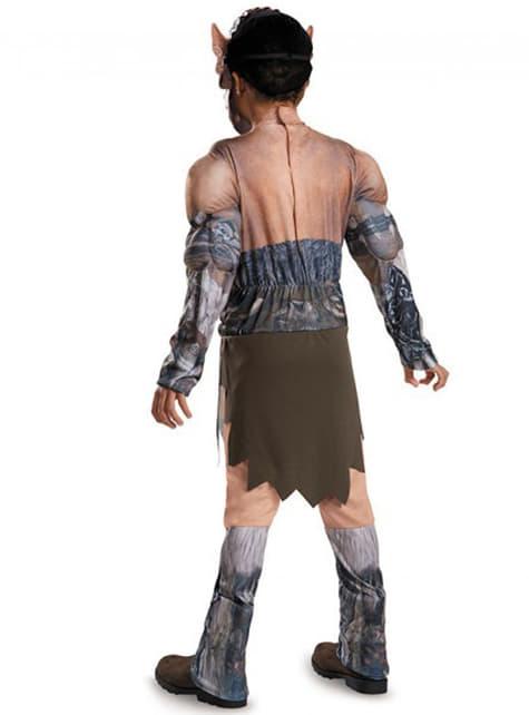 Disfraz de Durotan World of Warcraft musculoso para niño - hombre