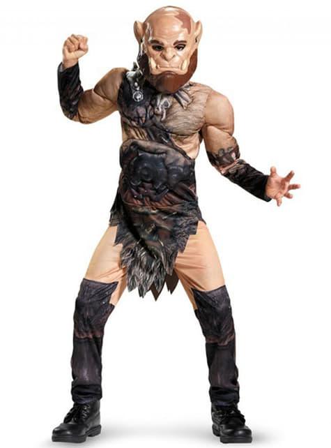 Disfraz de Orgrim World of Warcraft musculoso para niño